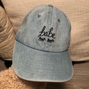 UO Denim Babe Eyelash Hat